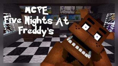 Мод и карта Five Nights at Freddy's для Minecraft PE 0.10.0
